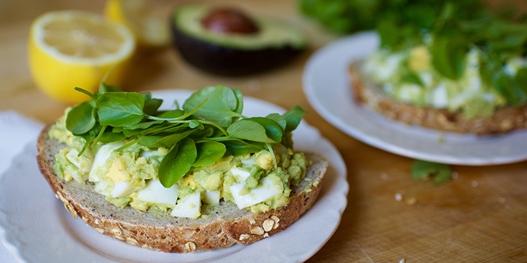 Avocado Egg Salad Toast