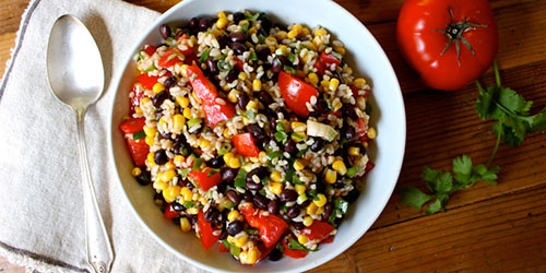 southwestern-rice-and-bean-salad
